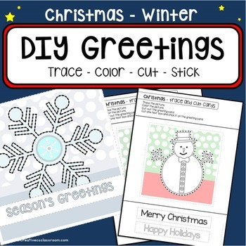 Christmas Winter tracing & cutting - DIY greeting cards -