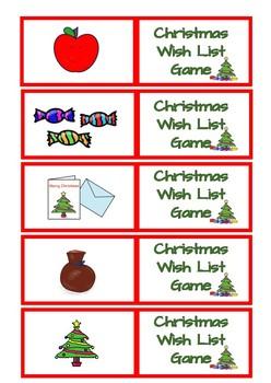 Christmas Wish Lish Game