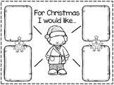Christmas Wish List Activity/Writing Paper