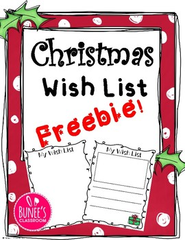 Christmas Wish List Freebie