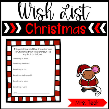 Christmas Wish List (No Prep) FREEBIE