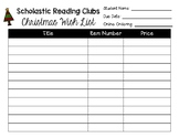 Christmas Wish List for Scholastic Book Orders