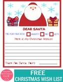 Christmas Wish List to Santa Free Printable