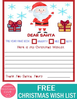 Wish List For Santa Worksheets Teaching Resources Tpt