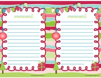 Christmas Wish Lists {FREEBIE}!!