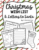 Christmas Wish List & Letters to Santa!