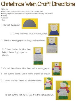 Christmas Wish Teddy Bear Craft and Writing Activity