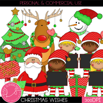 Christmas Wishes Clip Art Set