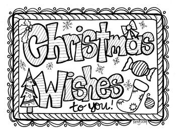 Christmas Wishes Coloring Sheet