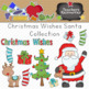 Christmas Wishes Santa Clipart Collection || Commercial Use Allowed