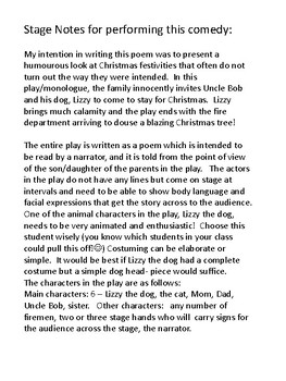 Christmas With Crazy Lizzy, The Dog - A Humorous Christmas Play