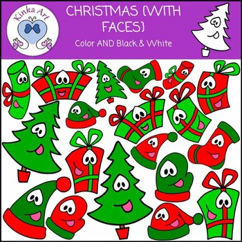 Christmas {With Faces} Clip Art