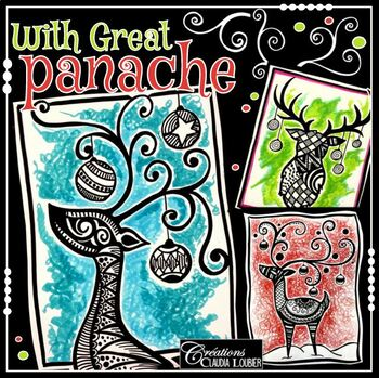 Christmas : With Great Panache -  Art Lesson Plan