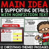 Main Idea and Supporting Details - Christmas Passages