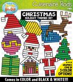 Christmas Wooden Block Rods Clipart {Zip-A-Dee-Doo-Dah Designs}