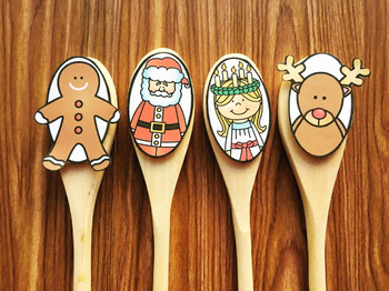 Christmas Wooden Spoon Puppets