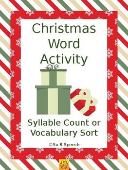 Christmas Word Activity