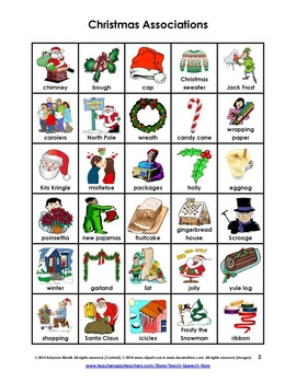 Christmas Word Associations