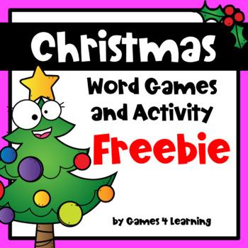 Christmas Free: Word Game for Christmas Activity