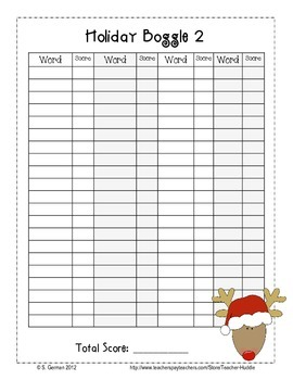 Christmas Word Boggle, Puzzle, and Student Created Word Search