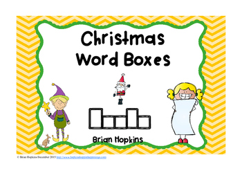 Christmas Word Boxes FREEBIE