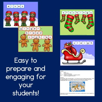 Christmas Word Building / Vocabulary Posters