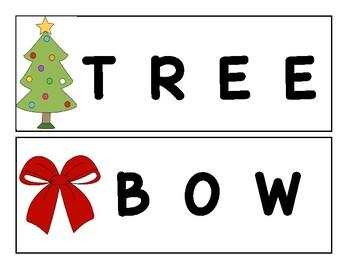 Christmas Word Cards