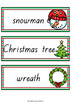Christmas Word Cards QLD Beginners Font