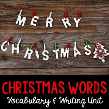 Christmas Word Cards and Word Walls {in English and Spanish}