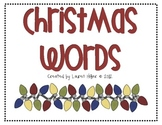 Christmas Word Cards with Graphics
