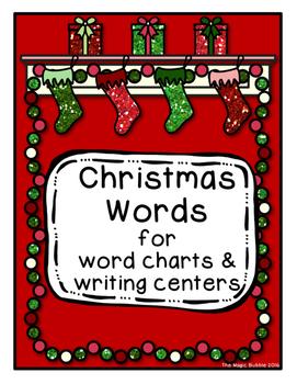 Christmas Word Chart