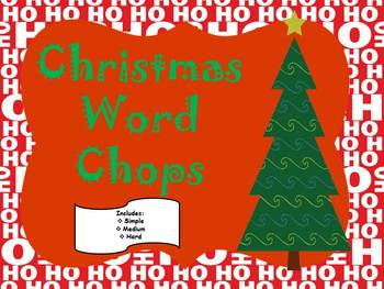Christmas Word Work /Differentiated Levels