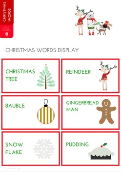Christmas Word Display
