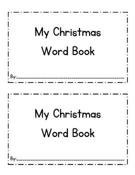 Christmas Word Emergent Reader