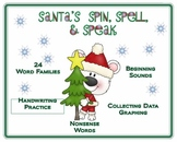 Christmas Word Families Santa's Spin, Spell, and Speak