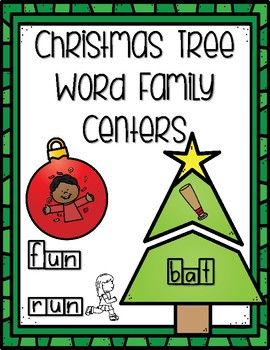 Christmas Word Family Centers