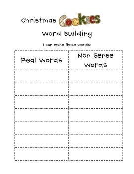 Christmas Cookies {Word Work}