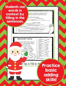 Word Work Christmas Activities Flip Book