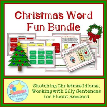 Christmas Word Work - Idioms and Silly Sentences for Fluent Readers
