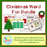 Christmas Word Work Bundle - Idioms and Silly Sentences fo