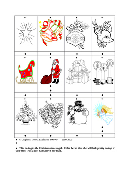 Christmas Word Game and Drawings Pre-K --K