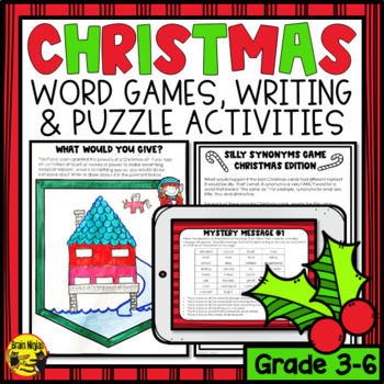 Christmas Word Puzzles, Logic Puzzlers and Writing Prompts