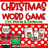 Christmas Word Games {CVC Words}