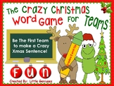 Christmas Word Games for Team Fun ~ Grades 2 and Up