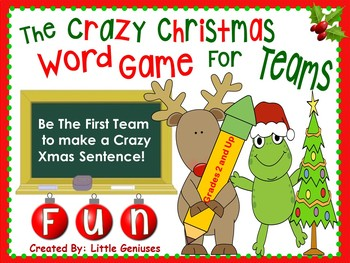 christmas word games for team fun grades 2 and up by little geniuses