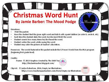IRLA G POWER WORDS Christmas Word Hunt