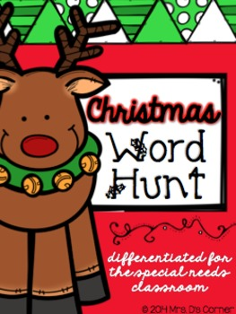 Christmas Word Hunt / Write the Room { Differentiated for Special Needs }
