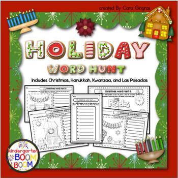 Christmas Word Hunt (Includes Hanukkah, Kwanzaa, and Las Posadas)