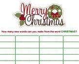 Christmas - Word Jumble