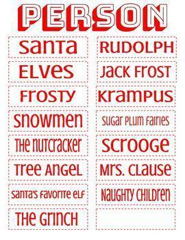 Christmas Word Jumble Activity